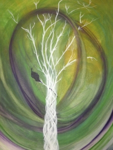 'The Living Light' Acrylic on canvas